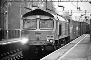 train b&w